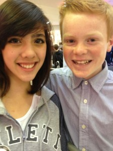 The author's daughter Leilani with Connor, Harry's younger brother
