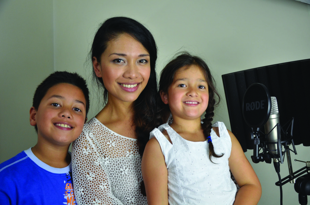Czarina with her children Jet (9) and Ciera (5). Photo by RMR Productions