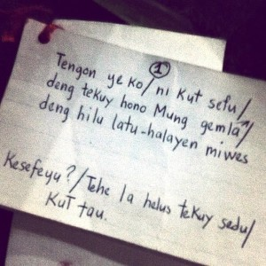Dialogue cue card of Bembol Roco as north chieftain