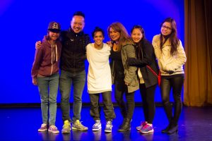Gary Lee and Audience Members with Demi Sorono