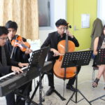The Carreon Quartet playing chamber Philippine music to welcome all guests
