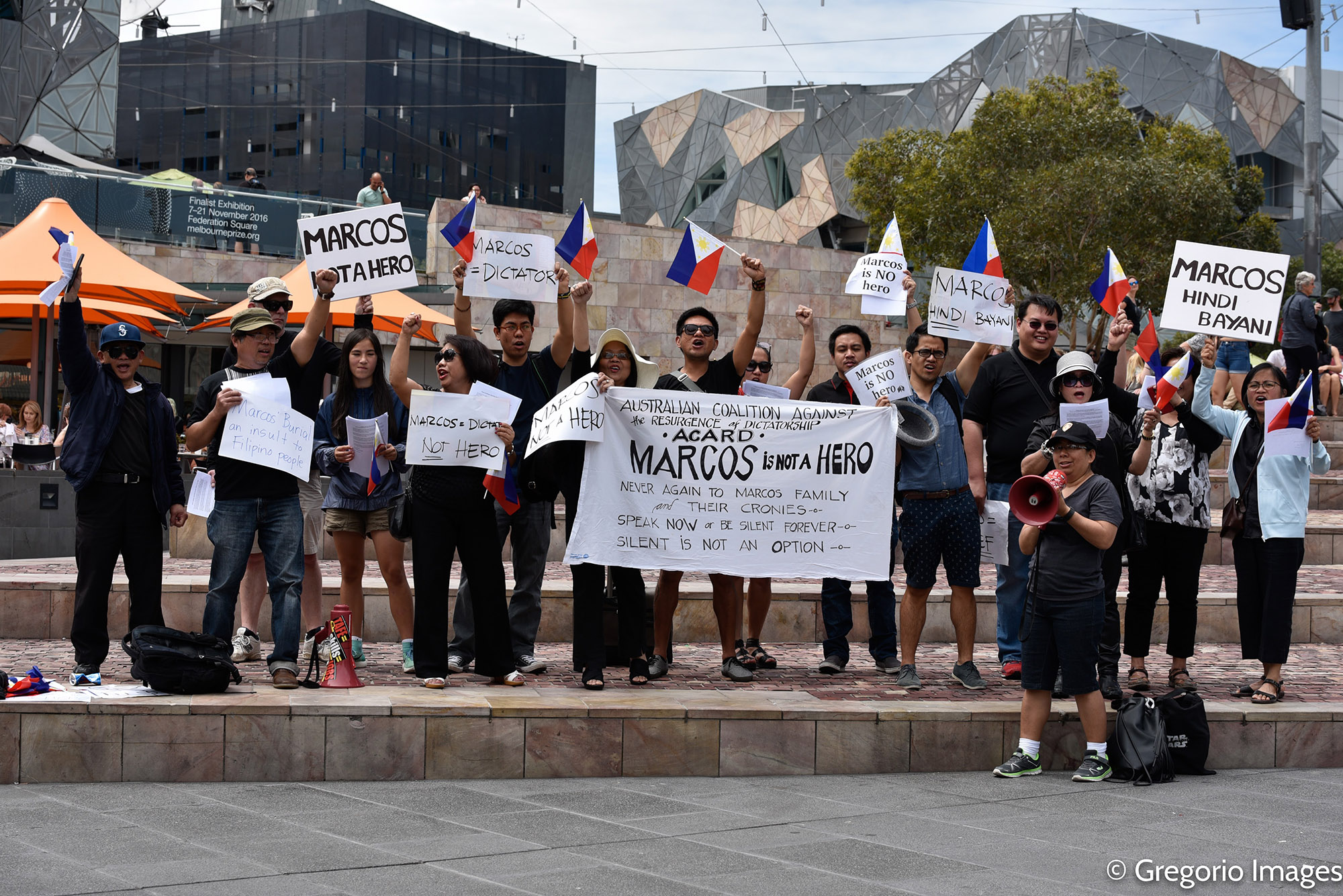Anti-Marcos rally in Melbourne