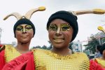 Students from public schools in Makati City don colorful costumes at the annual celebration of Caracol Festival along A.P Reyes Street on Sunday (Feb. 26, 2017). (PNA photo by Oliver Marquez)