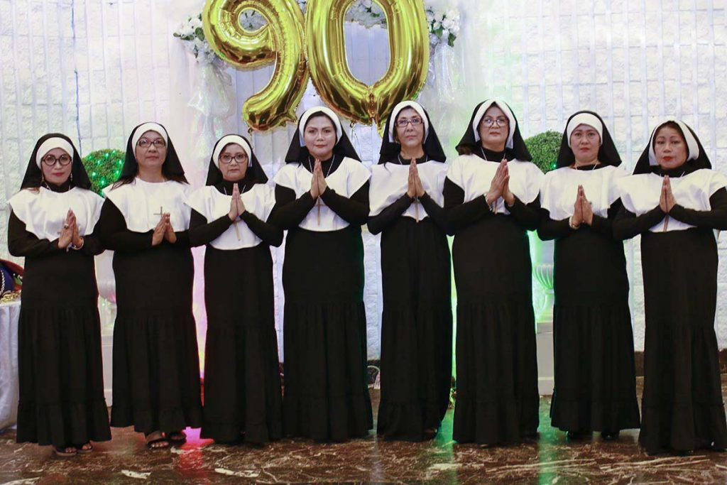 Nanay Pat's 90th birthday celebration - Sister Act production number
