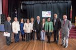 APSL President Col (ret) Chris Pilao, Councillor Julie Griffiths, Councillor Linda Santos, Consul General Anne Jalando-on Louis, Councillor Kathie Collins OAM, Councillor Tony Bleasdale, OAM Deputy Mayor, Blacktown City Youth Ambassador Jessica Szakacs, Ambassador Minda Calaguian-Cruz, Councillor Susai Benjamin and Kevin Conolly MP.