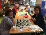 Chess players at Know Shopping Centre