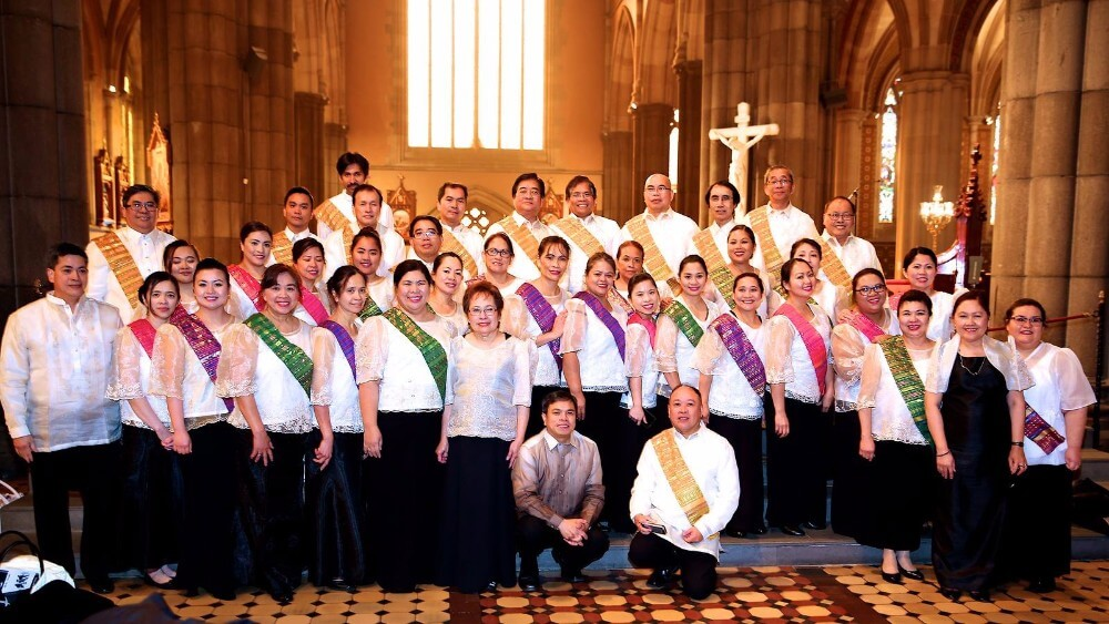Filipino Chaplaincy Choir of Melbourne and the Filipino Choir of Saint Anthony in Noble Park