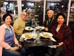 With former NEDA Director General Gerry Sicat, Cynthia Makasiar Sicat and Manny Zarb