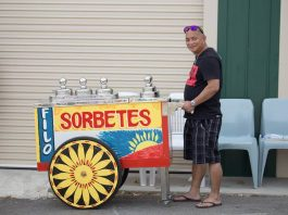 Sorbetes cart display at the Philippine Festival