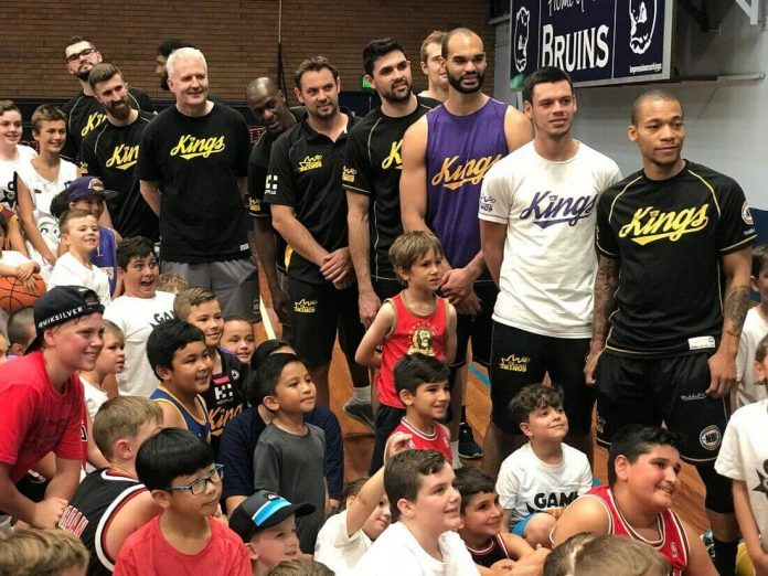 Sydney Kings stars with young fans PHOTO: Anthony Montano