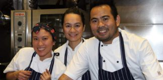 Lolo and Lola's co-owners Christina Uy and Kim and Jay Prieto