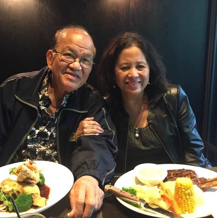 Lorna Ramirez with husband