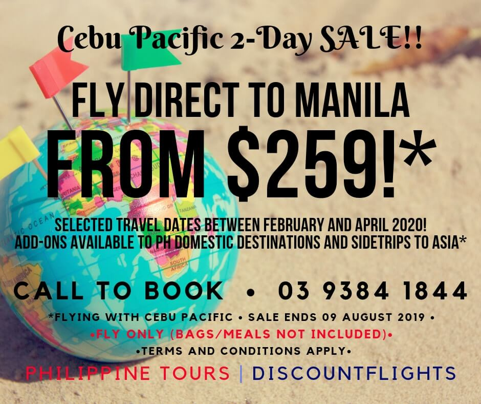 Cebu Pacific - Fly direct to Manila
