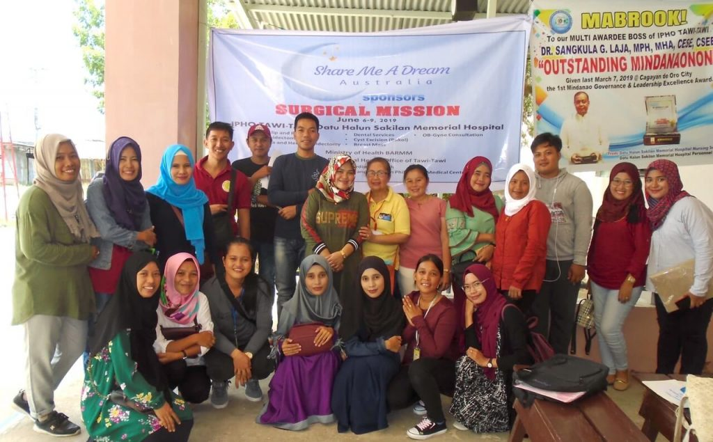 Surgical mission in Tawi-tawi organised by Share Me A Dream