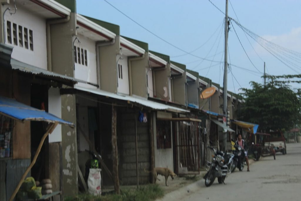 New housing built everywhere around Tacloban including the country/farm areas