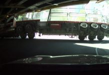 huge truck hitting underpass |