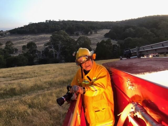 Ray on his training exercise in preparation for the bush fire season