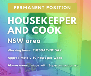 Looking for housekeeper and cook